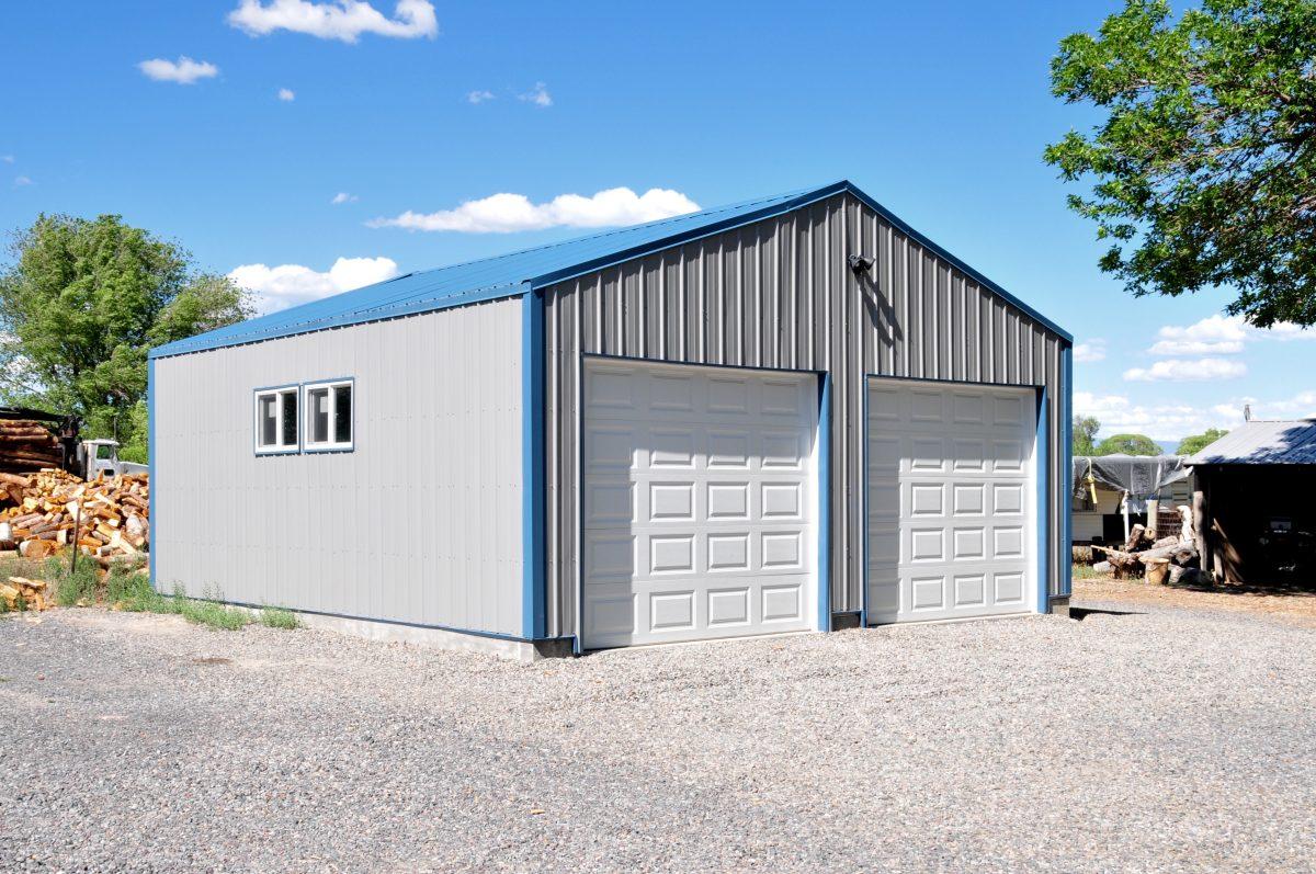 24X25X9 - Metal Garage Building