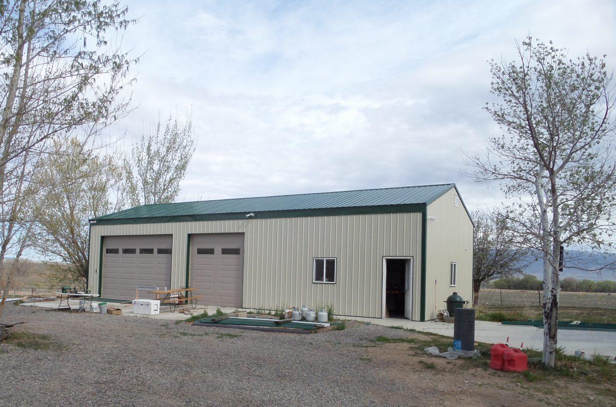 Detached Garage Metal Building in Colorado