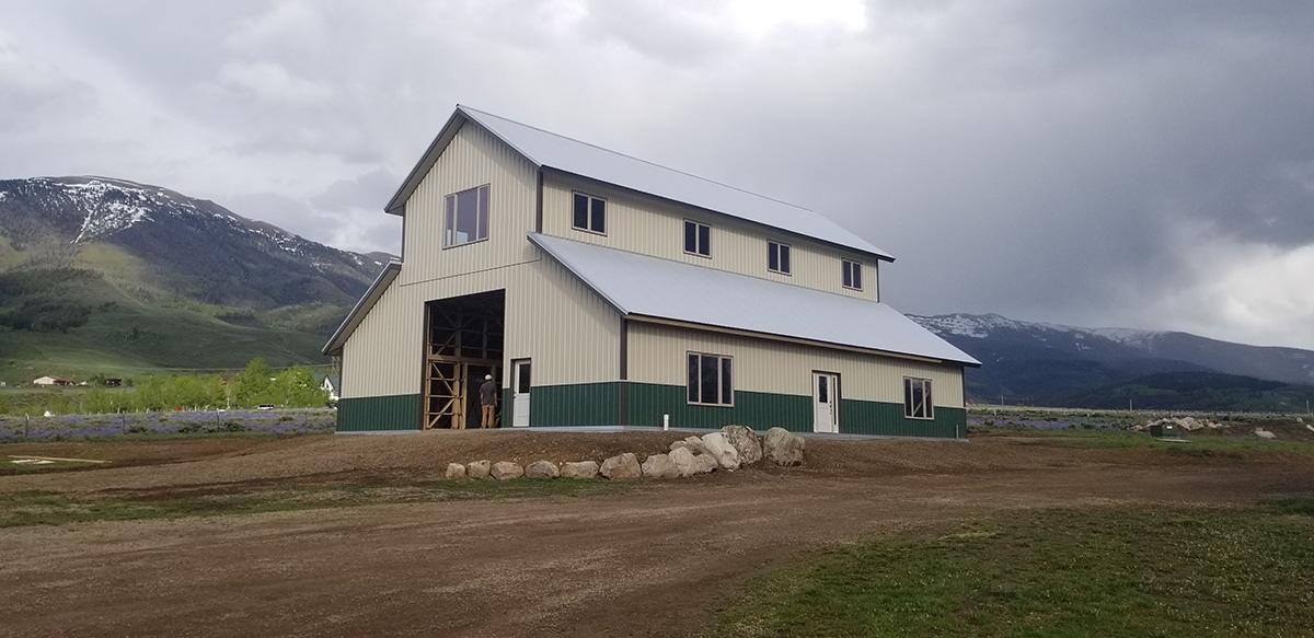 Metal Horse Barn in Montrose CO